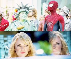 spider man, peter parker, and gwen stacy image