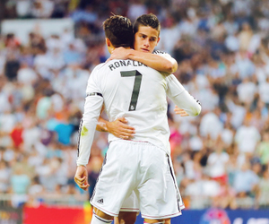 real madrid, cr7, and james rodriguez image