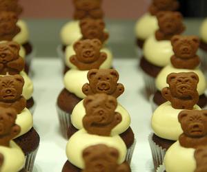 cupcake, bear, and cute image