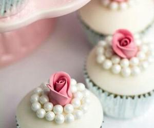 cupcake, pearls, and cute image
