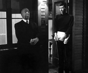 alfred hitchcock, Psycho, and anthony perkins image