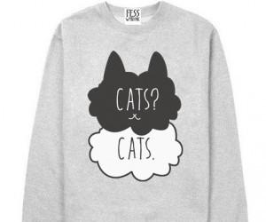 cats, okay, and sweatshirt image