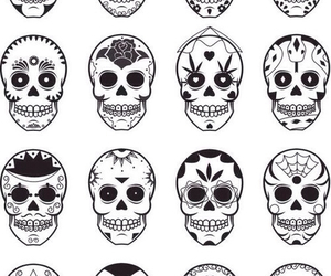 background, hipster, and skull image