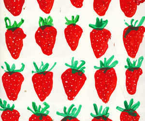 strawberry, red, and wallpaper image