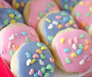 colorful, purple, and cookie image