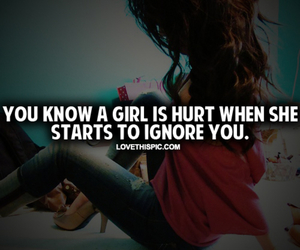 girl, hurt, and ignore image