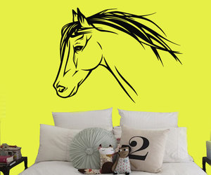 home decor, horse, and wall decal image