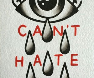 eye, hate, and old school image