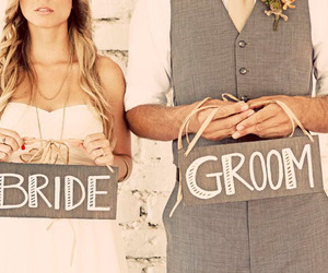 bride, groom, and couple image