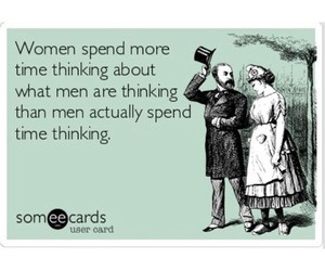 men, thinking, and women image