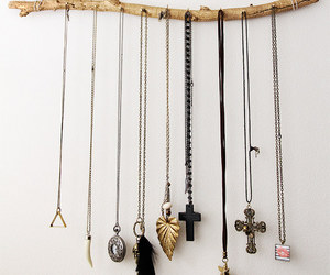diy, necklace, and cross image