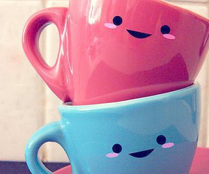 blue, pink, and mug image
