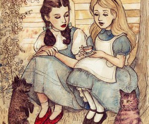 alice in wonderland and Wizard of oz image