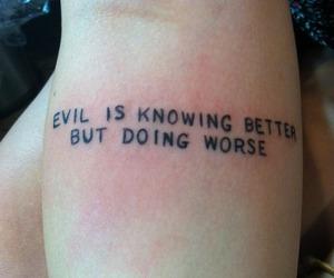 evil, tumblr, and tattoo image