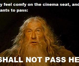 cinema, funny, and gandalf image