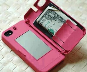 pink, iphone, and money image