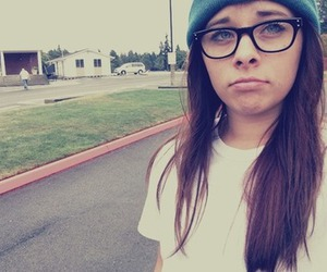 beanie, girl, and glasses image