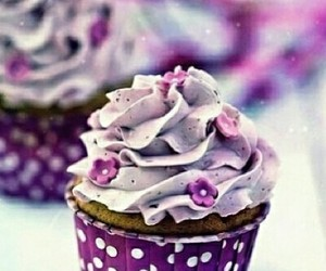 cupcake, dessert, and flowers image