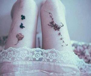 flowers, legs, and pale image