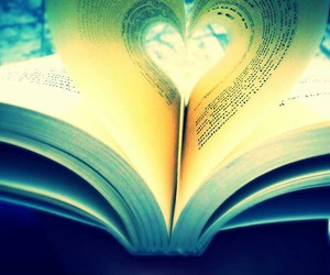 book, pages, and heart image