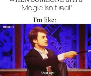 harry potter, magic, and funny image