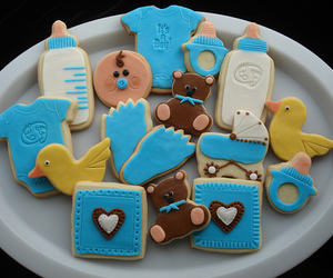 boy, Cookies, and baby shower image