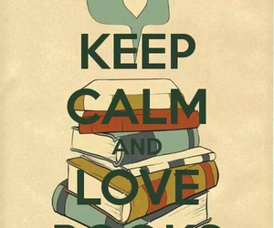 book, love, and keep calm image