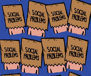 antisocial, problems, and background image