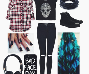 flannel and skull image