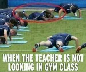 gym, funny, and teacher image
