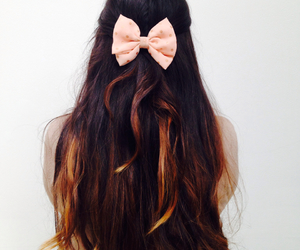 blonde, bow, and brunnette image