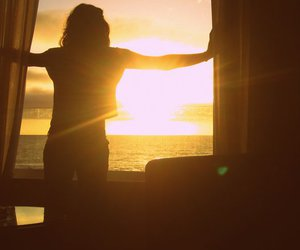 girl, sunset, and by alemendra c: image