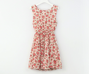 fashion, floral, and dress image