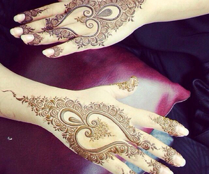 henna, beautiful, and tattoo image