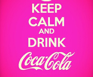 coca cola, pink, and refreshing image