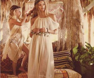 boho, dress, and model image