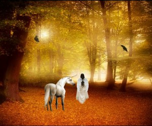 autumn, fantasy, and mystical image