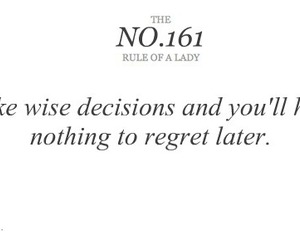 rule of a lady, quote, and wise image