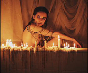 candle and bath image