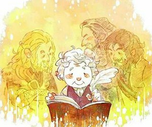 bilbo, sad, and fili image