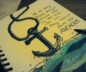 anchor, quote, and drawing image