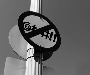 black&white, funny, and sign image