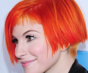 hayley williams, orange hair, and short hair image