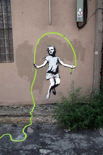 girl, jump, and wall image