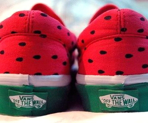 green, vans, and red image