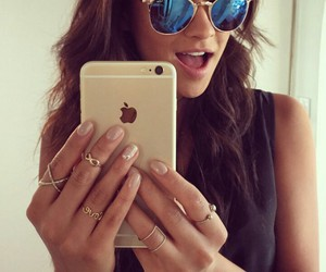 shay mitchell, pll, and iphone image