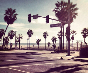 california, los angeles, and beach image