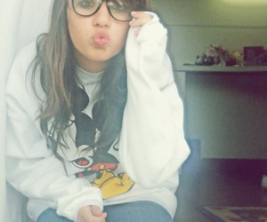 girl, oculos, and glasses image