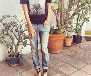 blue, blue jeans, and fashion image