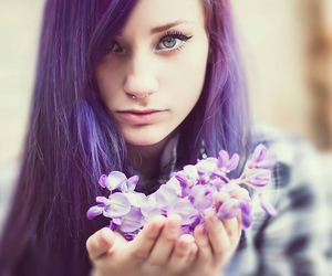 color hair and violett image